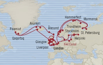 Singles Cruise - Balconies-Suites Oceania Nautica June 1 August 4 2019 Southampton, United Kingdom to Southampton, United Kingdom