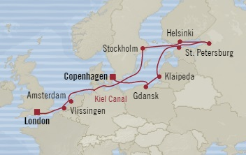 Singles Cruise - Balconies-Suites Oceania Nautica June 13-25 2019 Southampton, United Kingdom to Copenhagen, Denmark