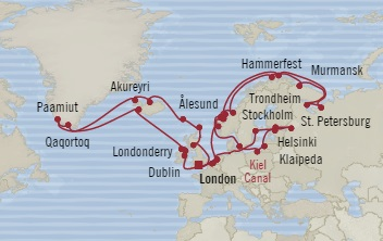 Singles Cruise - Balconies-Suites Oceania Nautica June 13 August 4 2019 Southampton, United Kingdom to Southampton, United Kingdom