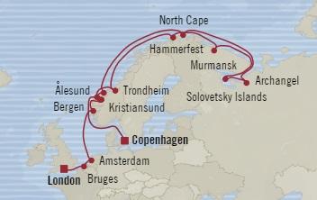 LUXURY CRUISE - Balconies-Suites Oceania Nautica June 25 July 15 2019 Copenhagen, Denmark to Southampton, United Kingdom