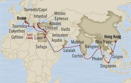 HONEYMOON Oceania Nautica March 24 May 10 2020 Hong Kong, Hong Kong to Civitavecchia, Italy