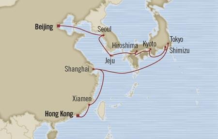 Singles Cruise - Balconies-Suites Oceania Nautica March 4-24 2019 Tianjin, China to Hong Kong, Hong Kong