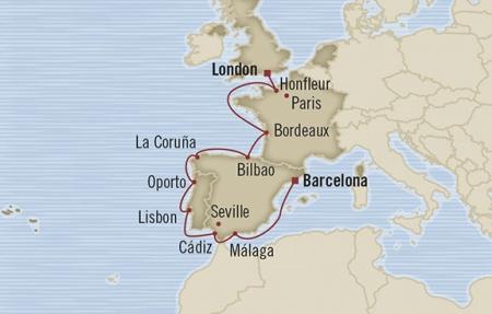 SINGLE Cruise - Balconies-Suites Oceania Nautica May 20 June 1 2019 Barcelona, Spain to Southampton, United Kingdom