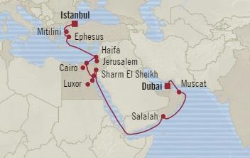 HONEYMOON Oceania Nautica November 1-21 2020 Istanbul, Turkey to Dubai, United Arab Emirates