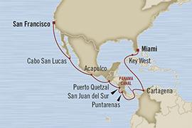 Singles Cruise - Balconies-Suites Oceania Regatta April 24 May 10 2019 Miami, FL, United States to San Francisco, CA, United States