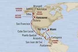 LUXURY CRUISES - Penthouse, Veranda, Balconies, Windows and Suites Oceania Regatta April 24 May 20 2022 Miami, FL, United States to Vancouver, Canada