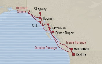 LUXURY CRUISE - Balconies-Suites Oceania Regatta August 11-21 2019 Seattle, WA, United States to Vancouver, Canada