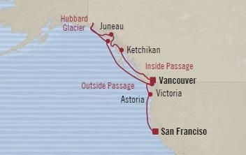 Singles Cruise - Balconies-Suites Oceania Regatta August 21-31 2019 Vancouver, Canada to San Francisco, CA, United States