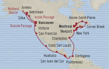 LUXURY CRUISE - Balconies-Suites Oceania Regatta August 21 September 30 2019 Vancouver, Canada to Montreal, Canada
