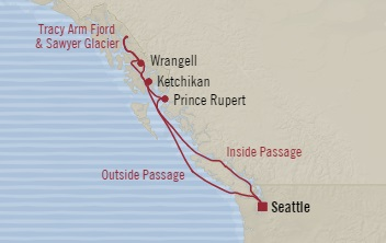SINGLE Cruise - Balconies-Suites Oceania Regatta August 4-11 2019 Seattle, WA, United States to Seattle, WA, United States