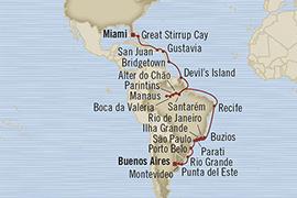 Singles Cruise - Balconies-Suites Oceania Regatta February 28 April 2 2019 Buenos Aires, Argentina to Miami, FL, United States