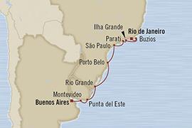 Singles Cruise - Balconies-Suites Oceania Regatta February 28 March 11 2019 Buenos Aires, Argentina to Rio De Janeiro, Brazil