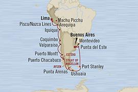 LUXURY CRUISES - Penthouse, Veranda, Balconies, Windows and Suites Oceania Regatta February 7-28 2022 Callao, Peru to Buenos Aires, Argentina
