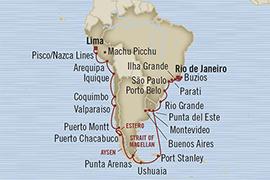 LUXURY CRUISE - Balconies-Suites Oceania Regatta February 7 March 11 2019 Callao, Peru to Rio De Janeiro, Brazil