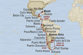 LUXURY CRUISES - Penthouse, Veranda, Balconies, Windows and Suites Oceania Regatta January 20 February 28 2022 Miami, FL, United States to Buenos Aires, Argentina
