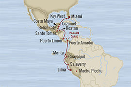 SINGLE Cruise - Balconies-Suites Oceania Regatta January 20 February 7 2019 Miami, FL, United States to Callao, Peru