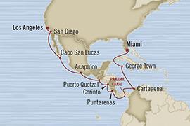 Singles Cruise - Balconies-Suites Oceania Regatta January 4-20 2019 Los Angeles, CA, United States to Miami, FL, United States