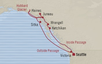 Singles Cruise - Balconies-Suites Oceania Regatta July 15-25 2019 Seattle, WA, United States to Seattle, WA, United States