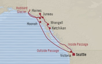 LUXURY CRUISES - Penthouse, Veranda, Balconies, Windows and Suites Oceania Regatta June 16-28 2022 Seattle, WA, United States to Seattle, WA, United States