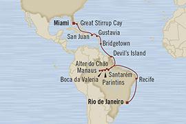 LUXURY CRUISES - Penthouse, Veranda, Balconies, Windows and Suites Oceania Regatta March 11 April 2 2022 Rio De Janeiro, Brazil to Miami, FL, United States