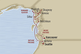 LUXURY CRUISE - Balconies-Suites Oceania Regatta May 20-30 2019 Vancouver, Canada to Seattle, WA, United States