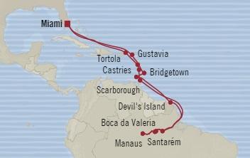 LUXURY CRUISE - Balconies-Suites Oceania Regatta November 29 December 22 2019 Miami, FL, United States to Miami, FL, United States