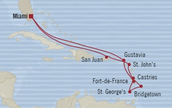 World Cruise BIDS - Oceania Regatta November 5-17 2023 Miami, FL, United States to Miami, FL, United States