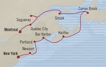 SINGLE Cruise - Balconies-Suites Oceania Regatta October 12-22 2019 New York, NY, United States to Montreal, Canada