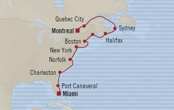 LUXURY CRUISES - Penthouse, Veranda, Balconies, Windows and Suites Oceania Regatta October 22 November 5 2022 Montreal, Canada to Miami, FL, United States