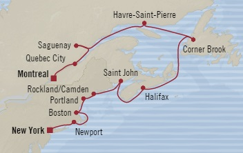 LUXURY CRUISE - Balconies-Suites Oceania Regatta September 18-30 2019 New York, NY, United States to Montreal, Canada
