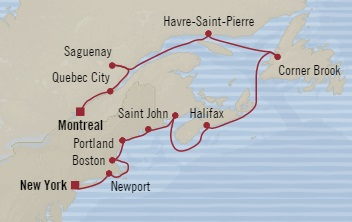 SINGLE Cruise - Balconies-Suites Oceania Regatta September 30 October 12 2019 Montreal, Canada to New York, NY, United States