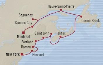 World CRUISE SHIP BIDS - Oceania Regatta September 30 October 12 2023 Montreal, Canada to New York, NY, United States
