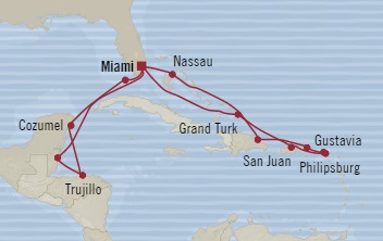SINGLE Cruise - Balconies-Suites Oceania Riviera December 5-22 2019 Miami, FL, United States to Miami, FL, United States