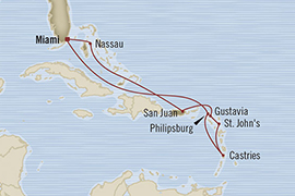 SINGLE Cruise - Balconies-Suites Oceania Riviera January 23 February 2 2019 Miami, FL, United States to Miami, FL, United States