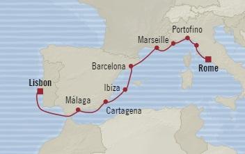 SINGLE Cruise - Balconies-Suites Oceania Riviera July 10-20 2019 Lisbon, Portugal to Civitavecchia, Italy