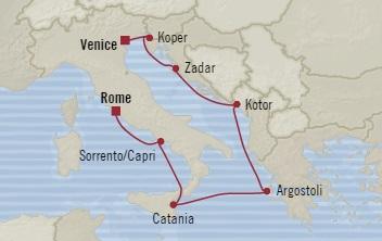 SINGLE Cruise - Balconies-Suites Oceania Riviera July 20-28 2019 Civitavecchia, Italy to Venice, Italy