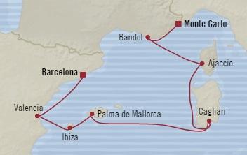 Singles Cruise - Balconies-Suites Oceania Riviera June 26 July 3 2019 Monte Carlo, Monaco to Barcelona, Spain
