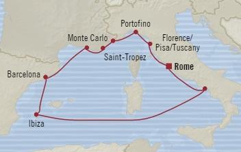 SINGLE Cruise - Balconies-Suites Oceania Riviera June 9-19 2019 Civitavecchia, Italy to Civitavecchia, Italy