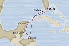 SINGLE Cruise - Balconies-Suites Oceania Riviera March 13-20 2019 Miami, FL, United States to Miami, FL, United States