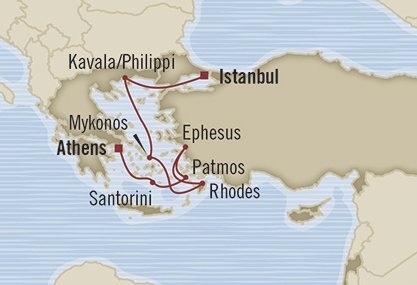Singles Cruise - Balconies-Suites Oceania Riviera May 5-12 2019 Istanbul, Turkey to Piraeus, Greece