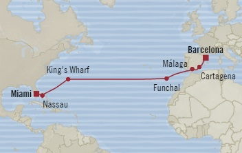 Singles Cruise - Balconies-Suites Oceania Riviera November 21 December 5 2019 Barcelona, Spain to Miami, FL, United States