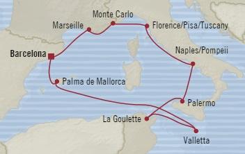SINGLE Cruise - Balconies-Suites Oceania Riviera October 16-26 2019 Barcelona, Spain to Barcelona, Spain