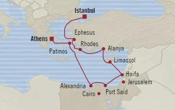SINGLE Cruise - Balconies-Suites Oceania Sirena June 13-25 2019 Piraeus, Greece to Istanbul, Turkey
