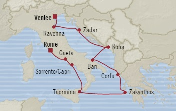 LUXURY CRUISES FOR LESS Oceania Sirena May 11-22 2019 Venice, Italy to Civitavecchia, Italy