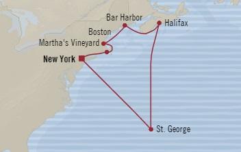 Singles Cruise - Balconies-Suites Oceania Sirena October 18-28 2019 New York, NY, United States to New York, NY, United States