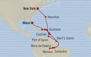 SINGLE Cruise - Balconies-Suites Oceania Sirena October 28 November 25 2019 New York, NY, United States to Miami, FL, United States