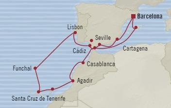 LUXURY CRUISE - Balconies-Suites Oceania Sirena September 20 October 4 2019 Barcelona, Spain to Barcelona, Spain
