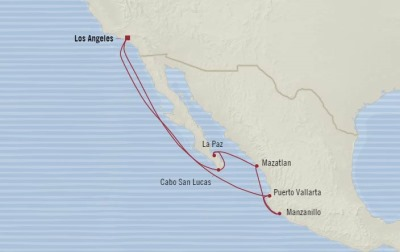 Cruises Oceania Sirena Map Detail Los Angeles, CA, United States to Los Angeles, CA, United States November 2-12 2017 - 10 Days
