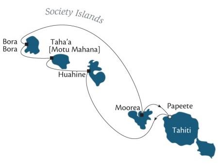 Singles Cruise - Balconies-Suites Cruises Paul Gauguin April 2-9 2019 Papeete, Tahiti, Society Islands to Papeete, Tahiti