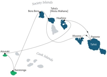 Singles Cruise - Balconies-Suites Cruises Paul Gauguin February 20 March 2 2019 Papeete, Tahiti, Society Islands to Papeete, Tahiti
